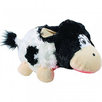 Barnyard Cruncheez Cow Dog Toy BLACK&WHITE LARGE