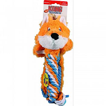 Winders Tails Fox Dog Toy ORANGE/BLUE LARGE