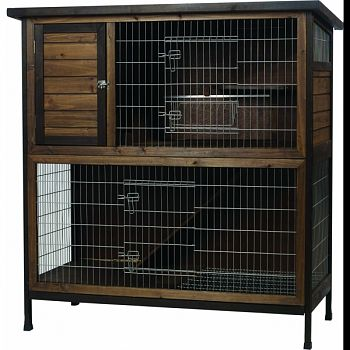 Outdoor Rabbit Hutch 2-story  48X24.25X50.5