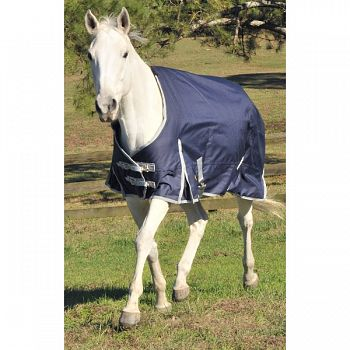 Gatsby Premium 1200d Medium Weight Turnout Blanket NAVY/SILVER 72 INCH