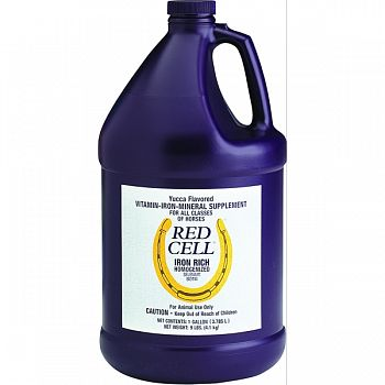 Red Cell Liquid Iron Supplement For Horses YUCCA 1 GALLON