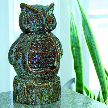 Ceramic Owl Fountain