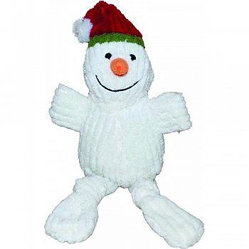 Holiday Corduroy Plush Dog Toy SNOWMAN 10 INCH
