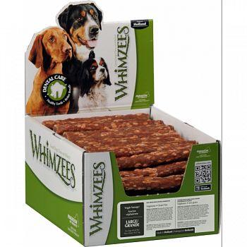 Whimzees Veggie Sausage Dental Treat BROWN LARGE/50 PIECE