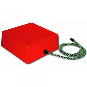 Heated Square Pet Bowl RED 60 WATT