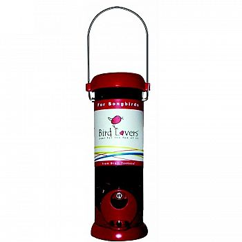Red Sunflower Tube Feeder by Droll Yankees
