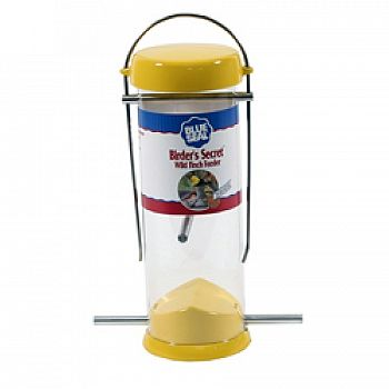 Blue Seal Birders Secret Wild Finch Feeder - Yellow / 8 in.