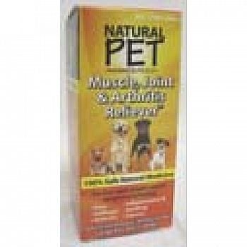 Natural Pet Muscle, Joint and Arthritis Relief Dog Supplement - 4 oz.