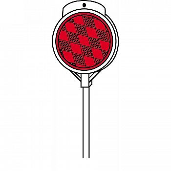 Red Plastic Driveway Visibility Marker