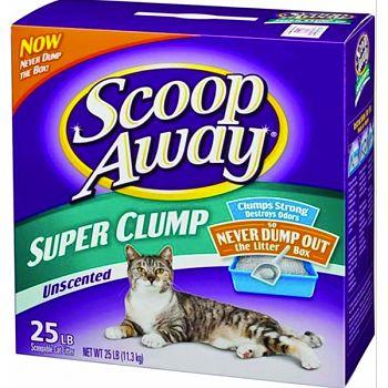 Scoop Away Super Clump Cat Litter UNSCENTED 25 POUND
