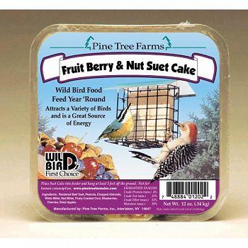 Fruit / Berry and Nut Suet Cake - 12 oz.