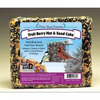 Pine Tree Farms Fruit, Berry, & Nut Seed Cake- 2.5 lb.