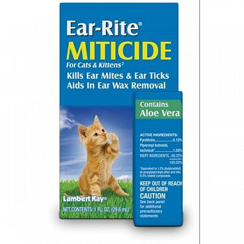 Ear Rite Miticide for Cats and Kittens