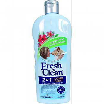 Fresh N Clean 2n1 Long Coat Shampoo & Conditioner  18 OUNCE