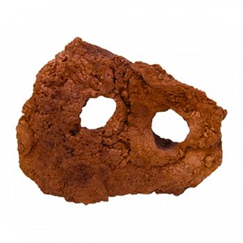 Carved Lava Rock RED MEDIUM (Case of 8)