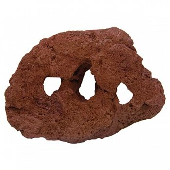 Carved Lava Rock RED LARGE (Case of 5)