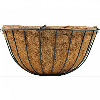 Traditional Hanging Basket With Coco Liner BLACK 12 INCH