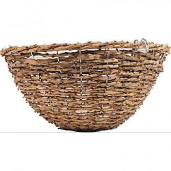 Rustic Rattan Hanging Basket