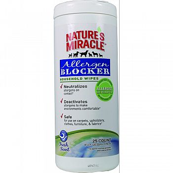 Nature S Miracle Allergen Blocker Household Wipes