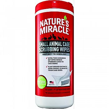 Natures Miracle Small Animal Cage Scrubbing Wipes  30 COUNT