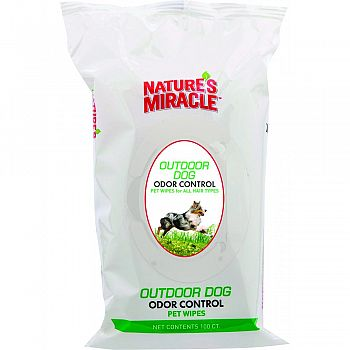 Natures Miracle Outdoor Dog Wipes  100 COUNT