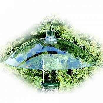 Clear Hang or Mount Baffle for Bird Feeders 16 in.