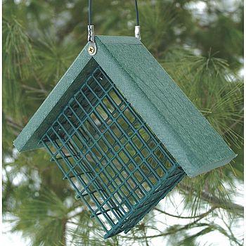 Going Green Recycled Plastic Suet Bird Feeder - 7X3X6