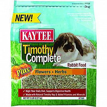 Timothy Complete Plus Flowers & Herbs Rabbit Food - 4.5 lb.