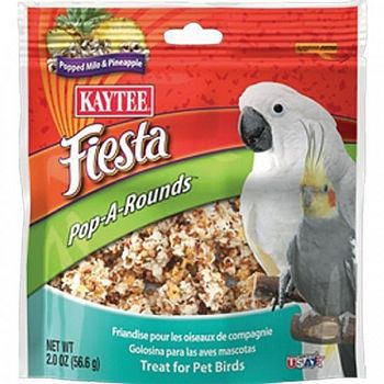 Fiesta Pop-a-rounds Treat - Pet Birds - 2 oz.