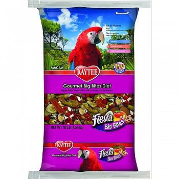 Fiesta Gourmet Big Bites Diet For Macaws  10 POUND BAG