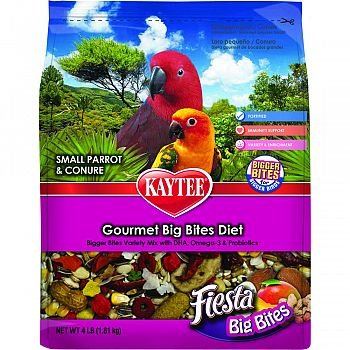 Fiesta Big Bites Bag For Small Parrots & Conures  4 POUND BAG