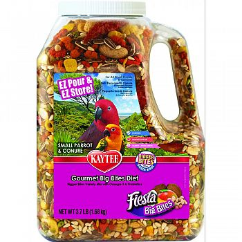 Fiesta Big Bites Jar For Small Parrots & Conures  3.75 POUND