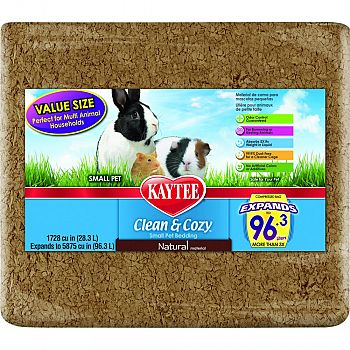 Clean And Cozy Small Pet Bedding NATURAL 1728 CUBIC INCH