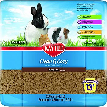 Clean And Cozy Small Pet Bedding NATURAL 250 CUBIC INCH