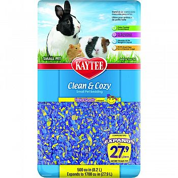 Clean And Cozy Small Pet Bedding PURPLE/YELLOW 500 CUBIC INCH