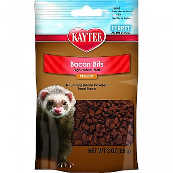 Bacon Bits High Protein Treat For Ferrets  3 OUNCE