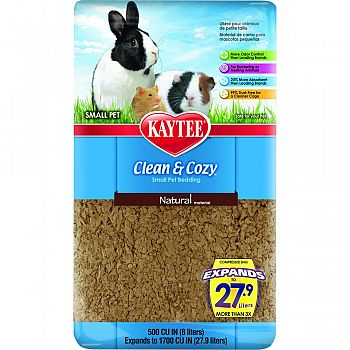 Clean And Cozy Small Pet Bedding NATURAL 500 CUBIC INCH