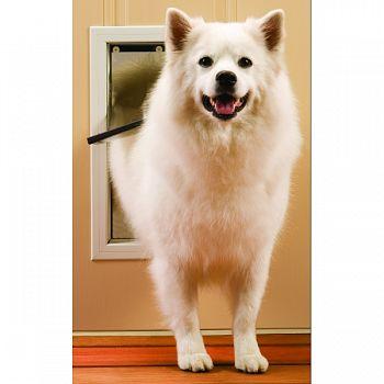 Freedom Aluminum Pet Door WHITE MEDIUM