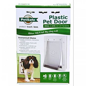 Plastic Pet Door WHITE SMALL