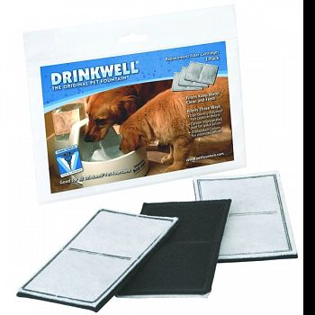 Fountain Filters 3pk Dog/cat  3 PACK