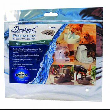 Premium Fountain Replacement Filters Cat  3 PACK