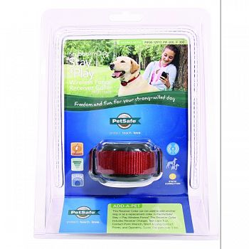 Stubborn Dog Wireless Fence Receiver Collar BLACK/RED 6-28 INCHES