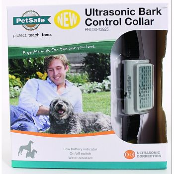 Ultrasonic Bark Control Collar BLACK DOGS 8+ LB