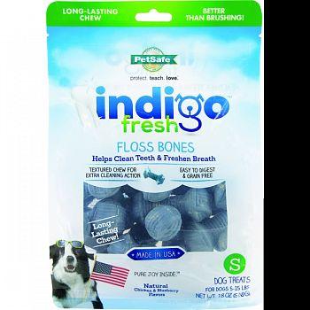 Indigo Fresh Floss Bones Dog Treat CHICKEN/BLUEBRY SMALL