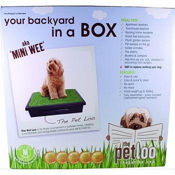 Pet Loo Backyard In A Box Mini Wee GREEN/BLACK MEDIUM
