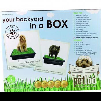 Pet Loo Your Backyard In A Box GREEN/BLACK SMALL