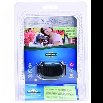Yardmax Rechargeable In-ground Fence Receiver Clr BLACK 6-28 INCH