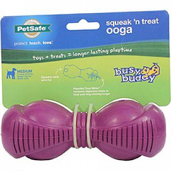 Busy Buddy Squeak  N Treat Ooga Dog Toy