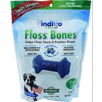 Indigo Fresh Floss Bones For Dogs BLUEBERRY&CHKN 12 OUNCE