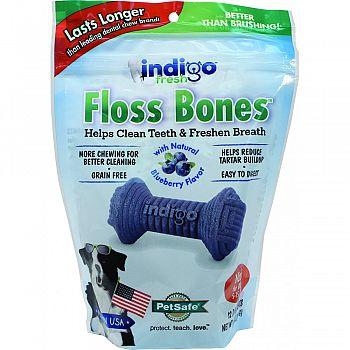 Indigo Fresh Floss Bones For Dogs BLUEBERRY&CHKN 6 OUNCE